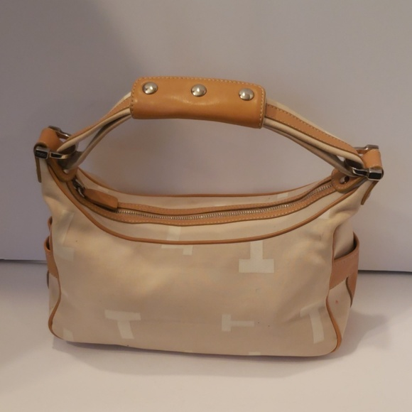 Tod's Handbags - Tod's signature canvas and leather mini hobo bag